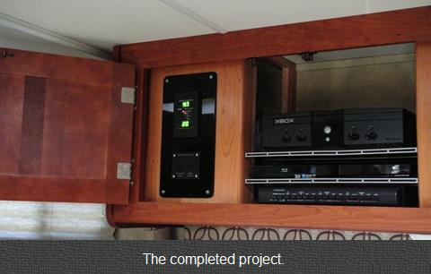 A Custom Audio Video Cabinet For My Rv